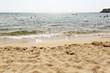 Leinwanddruck Bild - beach background of sea and sand