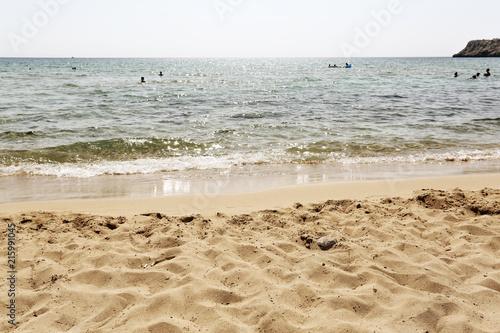 Leinwanddruck Bild beach background of sea and sand
