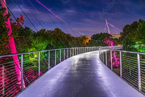 Falls Park Liberty Bridge in Downtown Greenville South Carolina SC