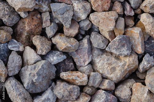 Aluminium Stenen Texture of Pile of Stones.