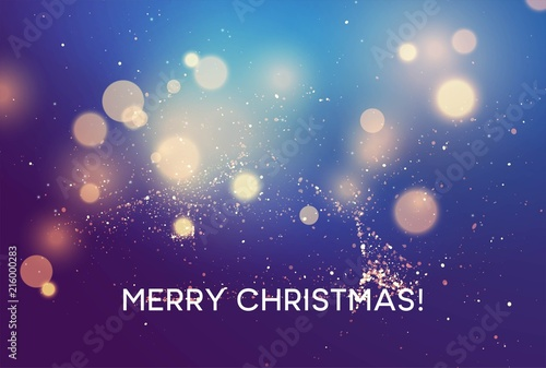 Merry christmas Winter vector blurred background. Vector illustration - 216000283