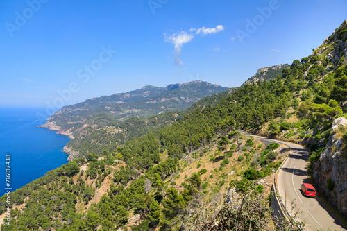 Foto Spatwand Zomer Landscape of the West coast of Mallorca, Spain