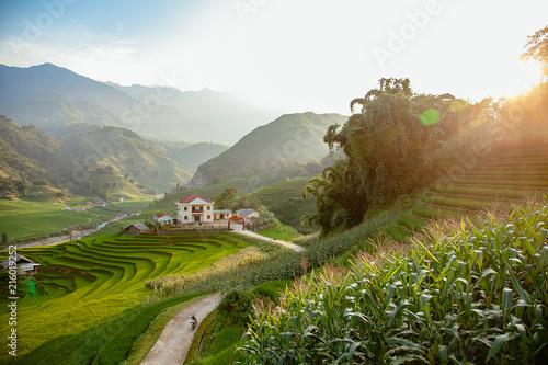 Foto Spatwand Blauwe hemel Vietnam