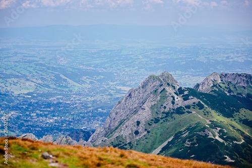 Beautiful view on Giewont mountain