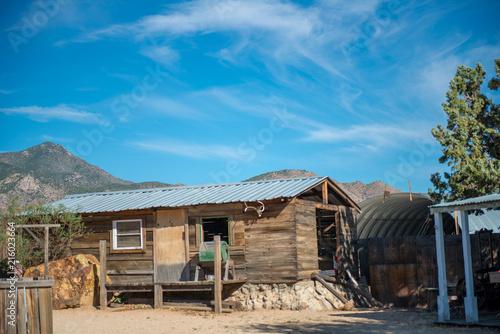 Foto Spatwand Arizona Ghost town in Arizona