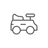 Children car line icon