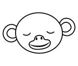 wild monkey head icon vector illustration design
