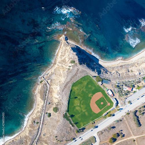 Foto Spatwand Zalm ocean field