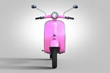 vintage pink scooter