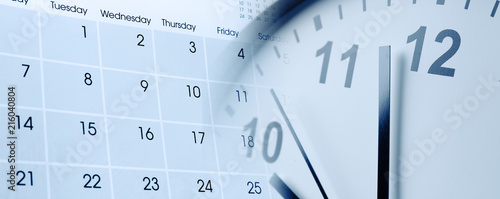 Sticker Clock and calendar
