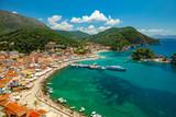 Parga town panoramic view. Popular tourist destination of Greece.