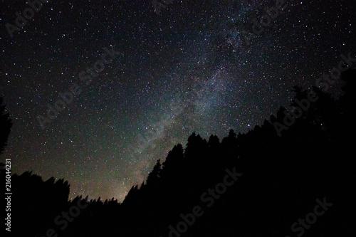 Aluminium Heelal Perseid Meteor shower and stars