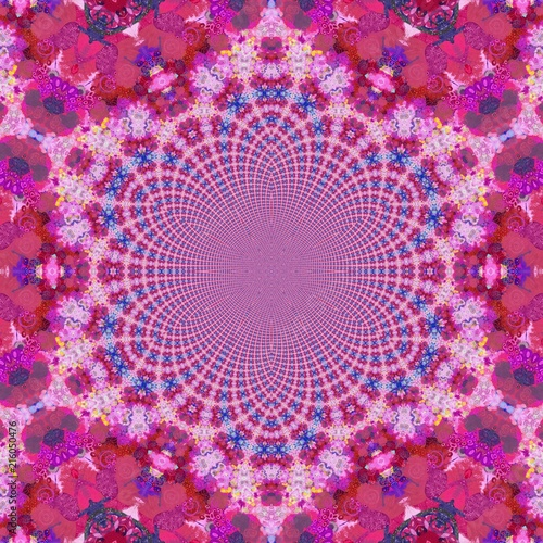 Abstract artwork. Fractal art. Creative graphic painting. Design pattern. Modern acrylic drawing. Wall decoration print. Good as fashion poster. Surreal wallpaper. Fantasy style decor. - 216050476