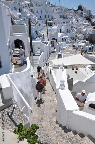 Foto Spatwand Santorini Oia -Santorini whitehouses