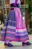 Detail of Italian folk costume for women - 216052201