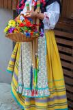 Detail of Italian folk costume for women - 216052207