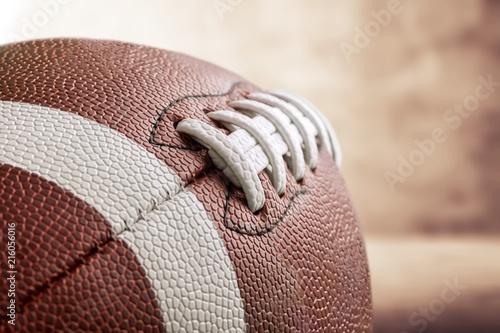 Leinwandbild Motiv Football, Sport, Textured leather