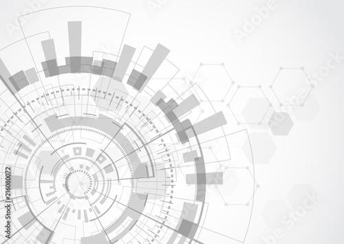 Futurystyczny technologii tło, technologii cyfrowej i inżynierii pojęcie. Ilustracji wektorowych.