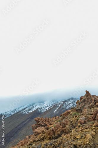 Foto Murales Cloudy Day in El Teide National Park