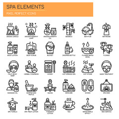 Spa Elements , Thin Line and Pixel Perfect Icons. © ratch0013