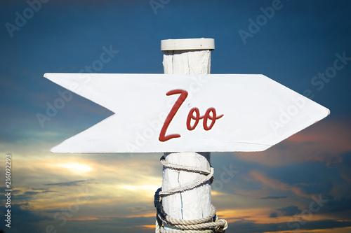 Poster Schild 317 - Zoo