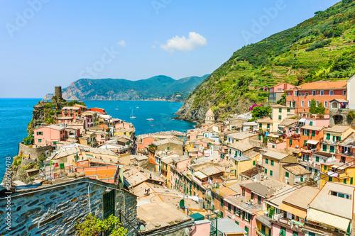 In de dag Liguria Scenic view of Vernazza, Cinque Terre, Liguria, Italy