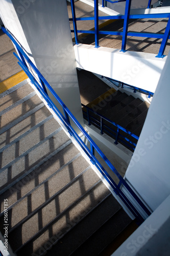 The staircase is photographed from above. - 216097875