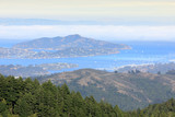 Angel Island and Richardson Bay viewed from Mt Tamalpais. Marin County, California, USA. - 216099018