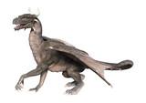 3D Rendering Fantasy Dragon on White - 216099458