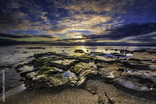 Fotobehang Zee zonsondergang brighton beach