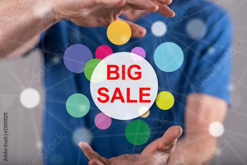 Concept of big sale