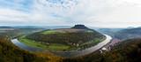 Panorama of the Saxon Alps