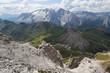 Quadro Blick vom Sass Pordoi auf Pordoi Pass