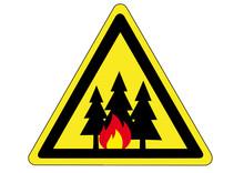 Schild Gefahr Durch Waldbrand Sticker