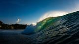 Wave breaking from water at Bingin Bali Indonesia