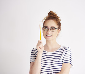 Girl has got a great idea © gpointstudio