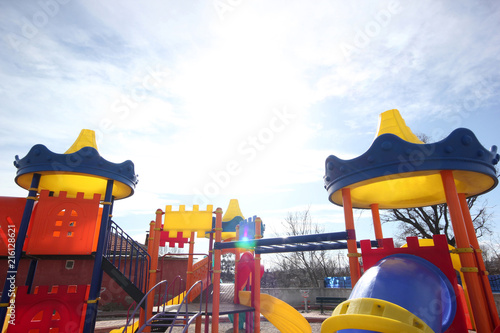 Aluminium Amusementspark Colorful playground in the park