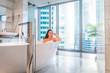 Quadro Woman relaxing in bath