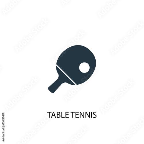 Fototapeta Table tennis creative icon. Simple element illustration
