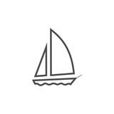 Sailboat vector icon - 216139835