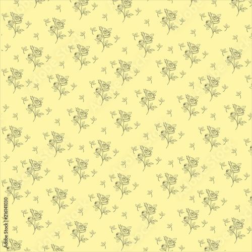 Floral ornament for walls, wallpaper - 216141030