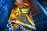 The Reclining Buddha at Wat Pho ,Pho Temple in Bangkok, Thailand, Asia