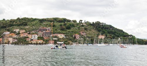 In de dag Liguria Panoramic view of Liguria coast, Italy