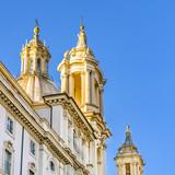 Santagnese Church Exterior, Piazza Nabona, Rome, Italy