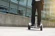 Leinwandbild Motiv Employee on hoverboard