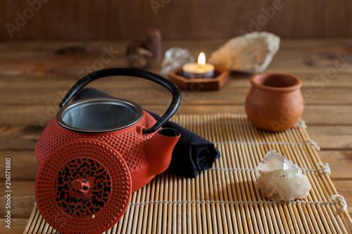 In de dag Zen Ceremonia zen del té