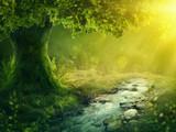 Deep magic forest