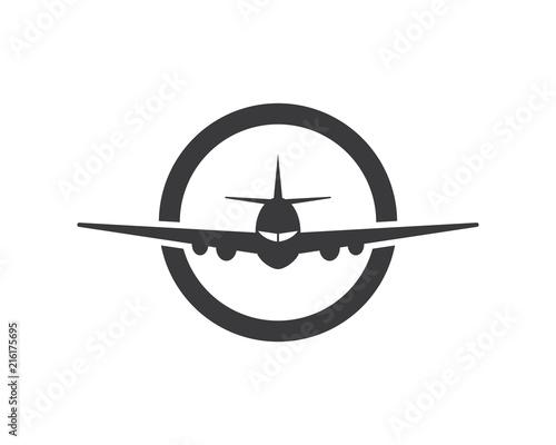 Fototapeta Airplane icon vector illustration design