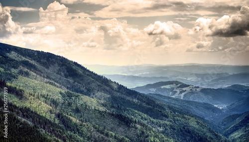 Aluminium Beige View from mountain Chopok