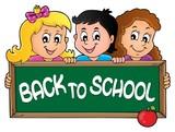 Children holding schoolboard theme 2